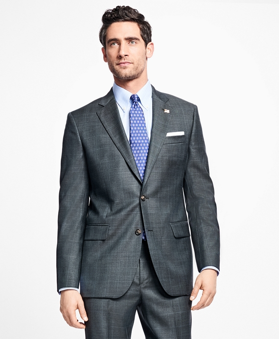 Madison Fit Saxxon Wool Plaid with Deco 1818 Suit Olive