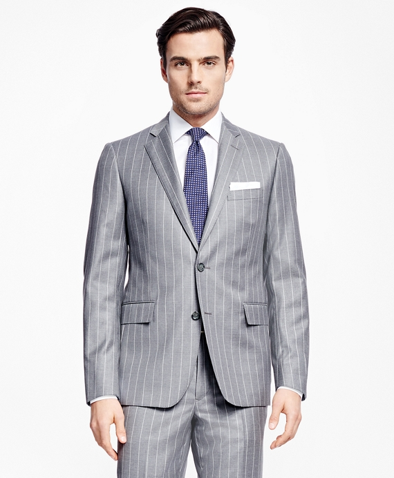 Regent Fit Chalk Stripe 1818 Suit Grey