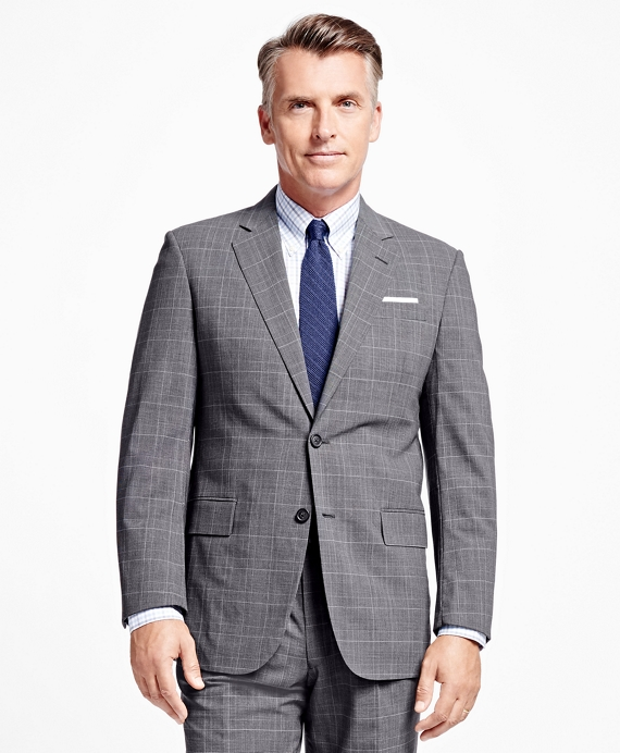 Madison Fit BrooksCool® Plaid with Deco Suit Grey
