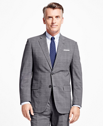 Madison Fit BrooksCool® Plaid with Deco Suit