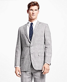 Fitzgerald Fit Plaid Linen Suit