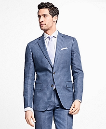Regent Fit Stripe Linen Suit