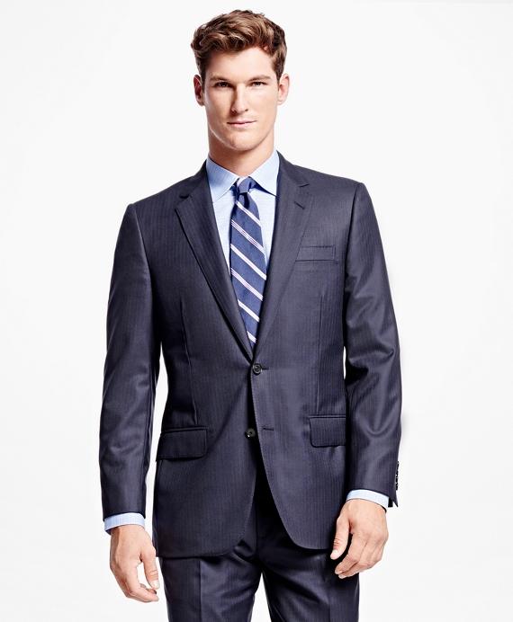 Fitzgerald Fit Golden Fleece® Track Stripe Suit Navy