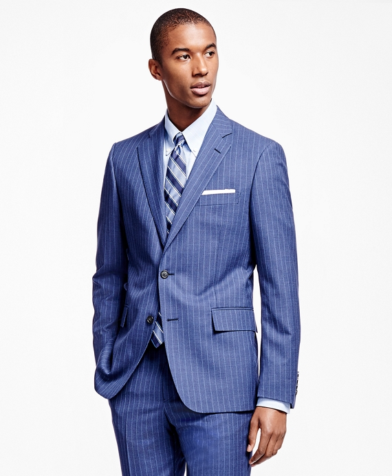 Regent Fit Chalk Stripe 1818 Suit Blue