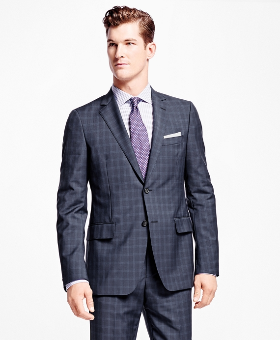Fitzgerald Fit Windowpane 1818 Suit Navy