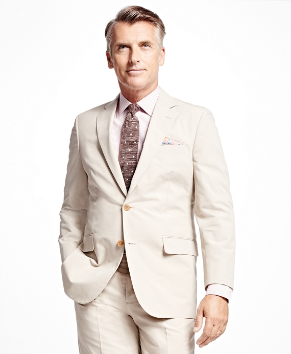 Madison Fit Poplin Suit Stone