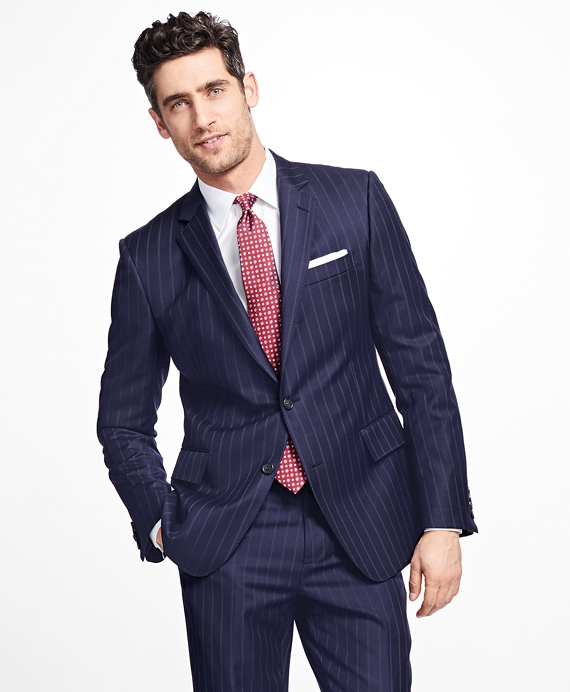 Regent Fit Double Stripe 1818 Suit Navy