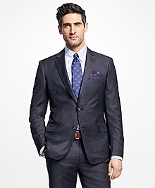 Regent Fit Textured Stripe 1818 Suit