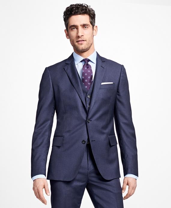 Regent Fit Three-Piece Slim Stripe 1818 Suit Navy