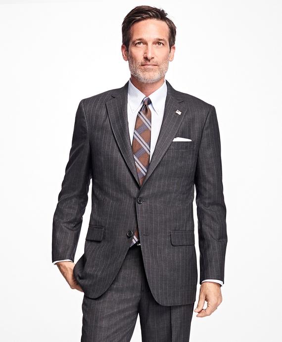 Golden Fleece® Madison Fit Stripe Suit Grey
