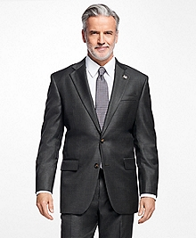 Madison Fit Saxxon Wool Sharkskin 1818 Suit