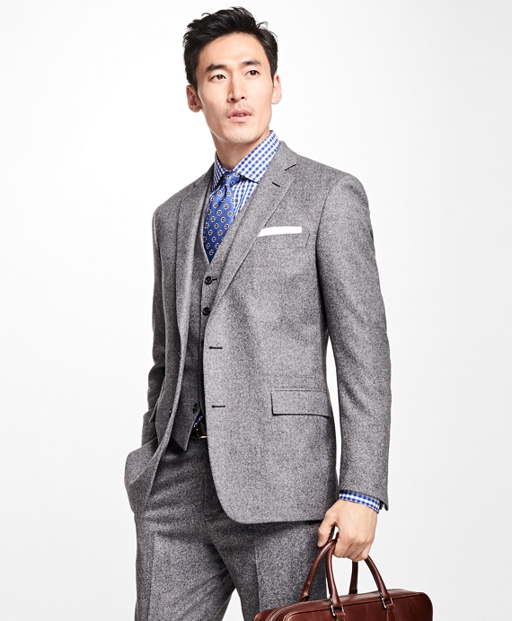 Regent Fit Three-Piece Donegal 1818 Suit Grey