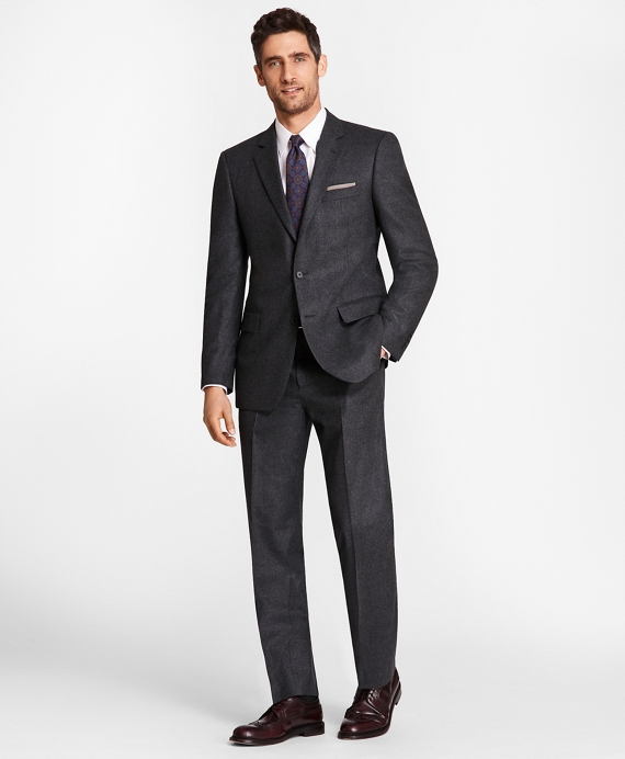 Madison Fit Stretch Flannel 1818 Suit Charcoal