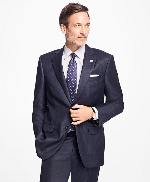 Madison Fit Shadow Stripe 1818 Suit Navy