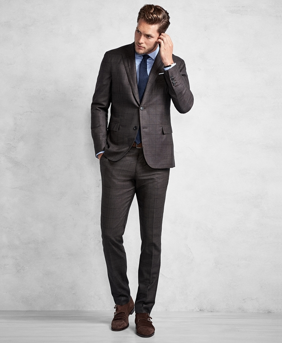 Golden Fleece® Brown Windowpane Suit