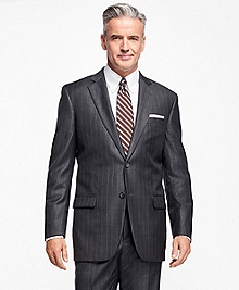 Madison Fit Saxxon Wool Stripe 1818 Suit