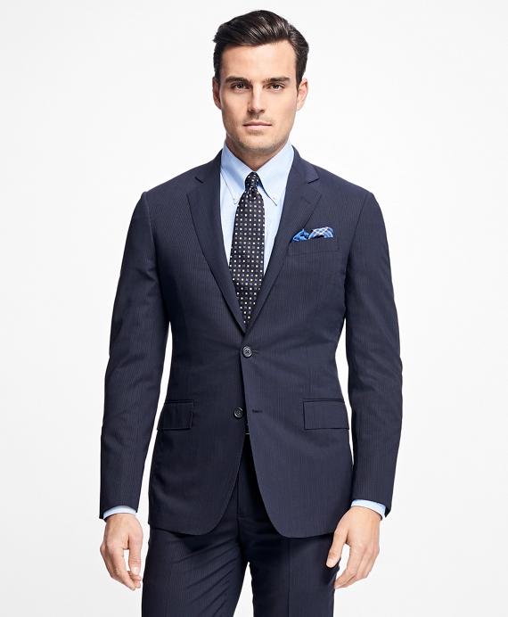 Regent Fit BrooksCool® Mini Stripe Suit Navy