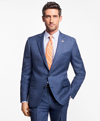 Regent Fit Plaid with Overcheck 1818 Suit