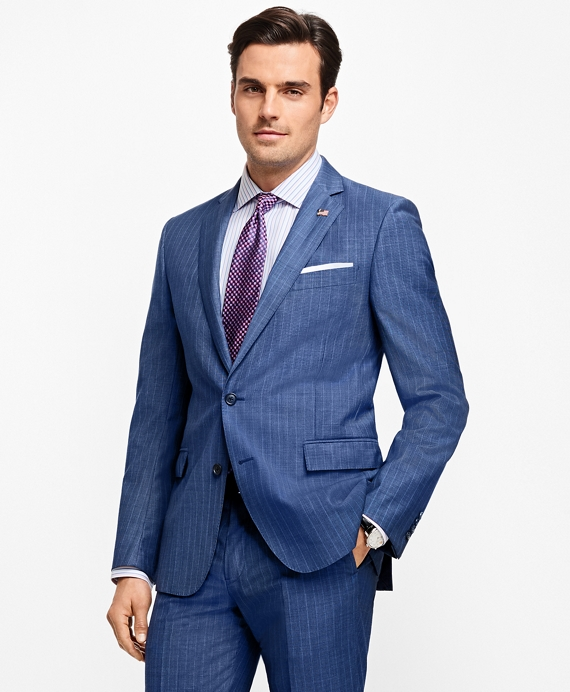 Regent Fit Stripe 1818 Suit Blue