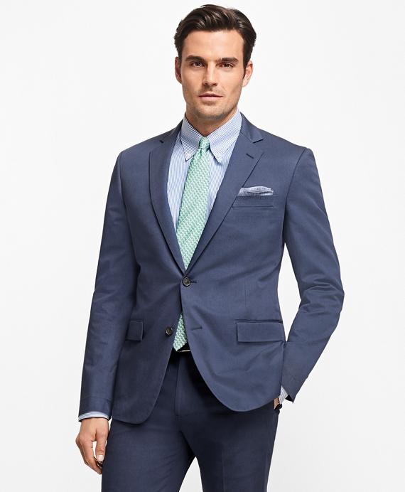 Regent Fit Stretch Cotton Suit Navy