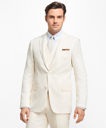 Regent Fit Three-Piece Linen Suit