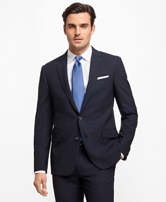 Regent Fit BrooksCool® Narrow Stripe Suit Navy