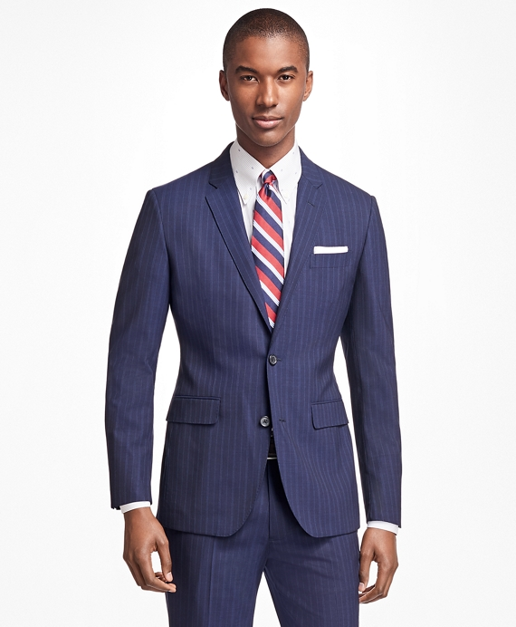 Milano Fit BrooksCool® Wide Stripe Suit Blue