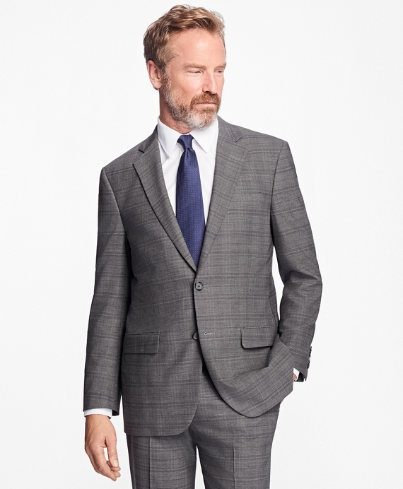 Madison Fit BrooksCool® Plaid Suit Grey