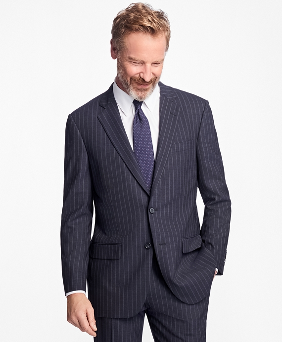 Madison Fit BrooksCool® Stripe  Suit Navy