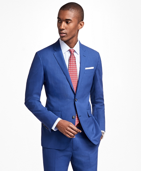 Milano Fit BrooksCool® Bright Blue Suit - Brooks Brothers