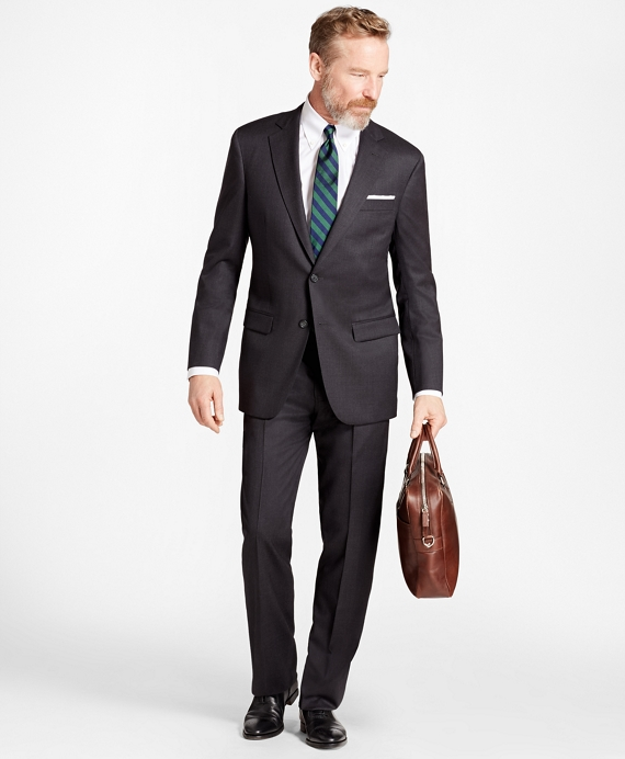 Madison Fit Stretch Wool Two-Button 1818 Suit Charcoal