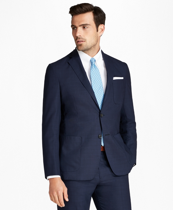 Regent Fit BrooksCloud™ Textured 1818 Suit Blue