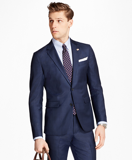 Milano Fit Multi-Windowpane 1818 Suit