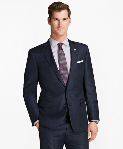 Regent Fit Saxxon Wool Tic with Windowpane 1818 Suit