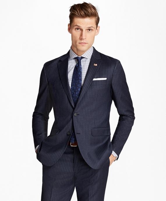 Milano Fit Stripe 1818 Suit Blue