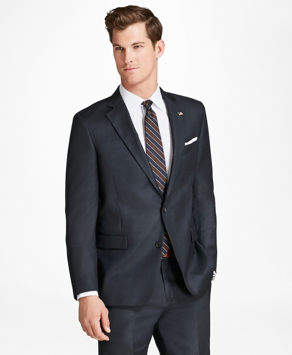 Regent Fit Saxxon™ Wool Nailhead 1818 Suit Navy