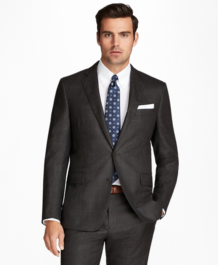 Regent Fit Flannel Windowpane 1818 Suit