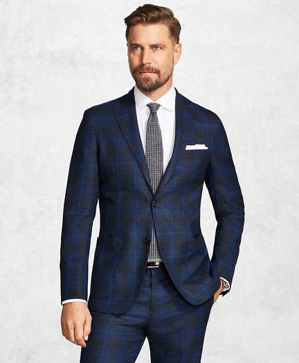 Golden Fleece BrooksCloud Blue Plaid Suit