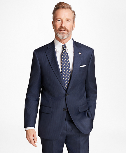 Madison Fit Saxxon™ Wool Alternating Stripe 1818 Suit