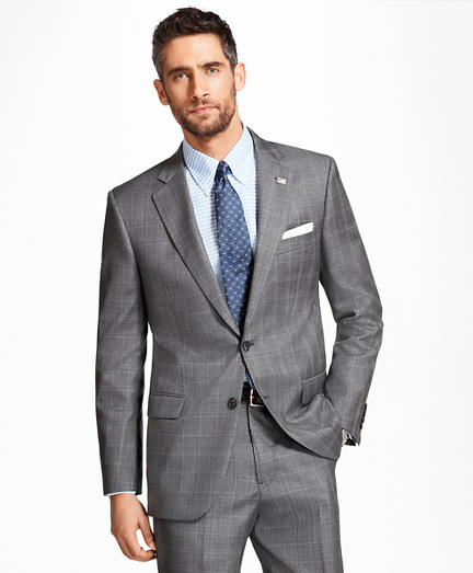 Madison Fit Saxxon Wool Plaid with Deco 1818 Suit