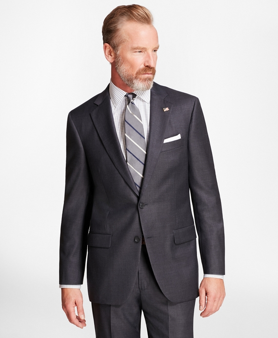 Madison Fit Mini-Tattersall 1818 Suit Blue-Grey