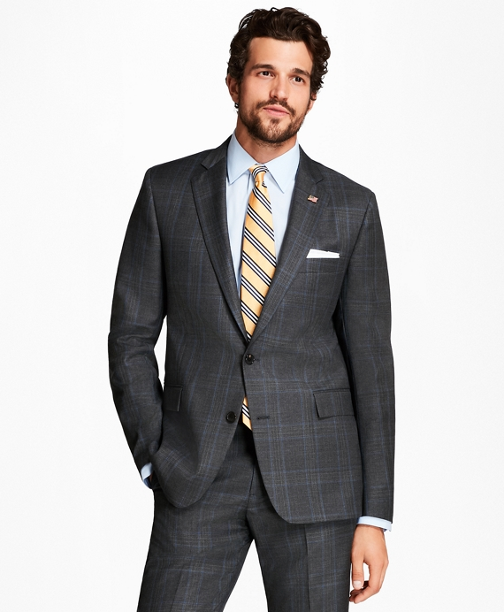 Regent Fit Plaid with Deco 1818 Suit Dark Grey