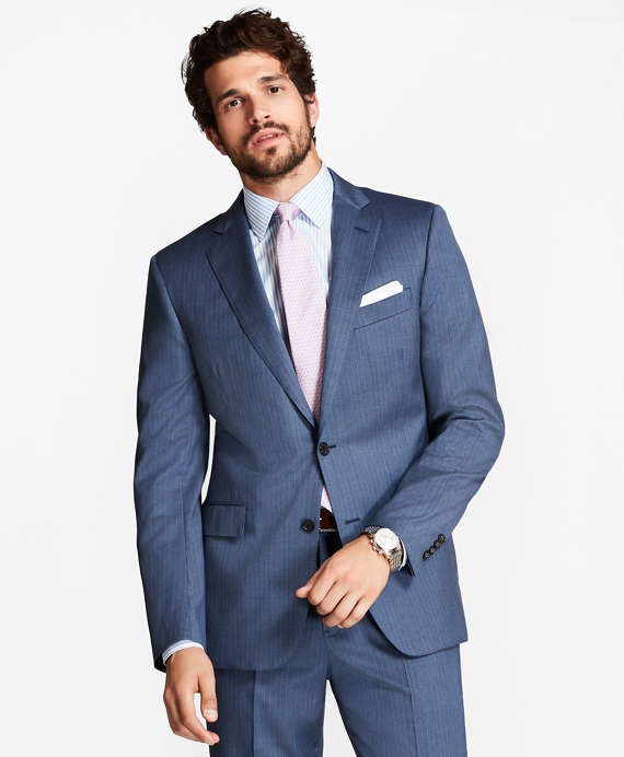 Regent Fit Pinstripe 1818 Suit Blue
