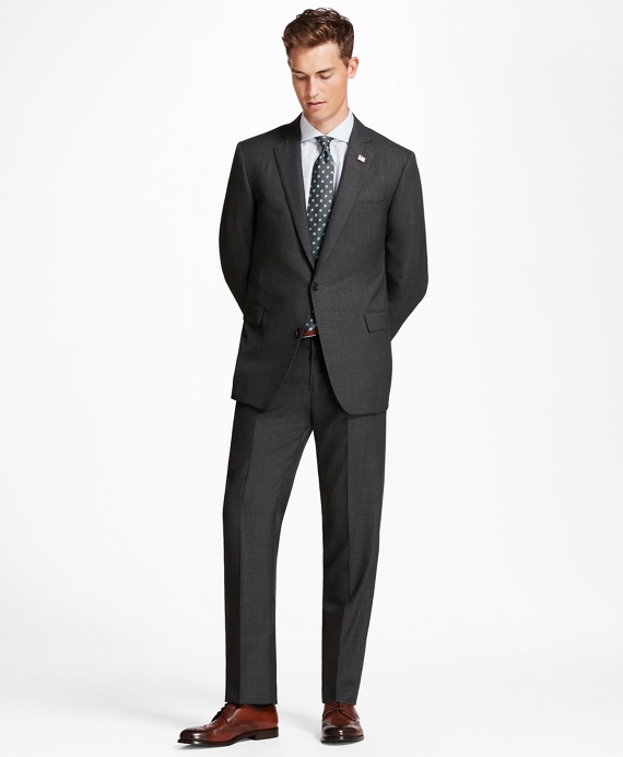 Golden Fleece® Regent Fit Micro-Plaid Suit Grey