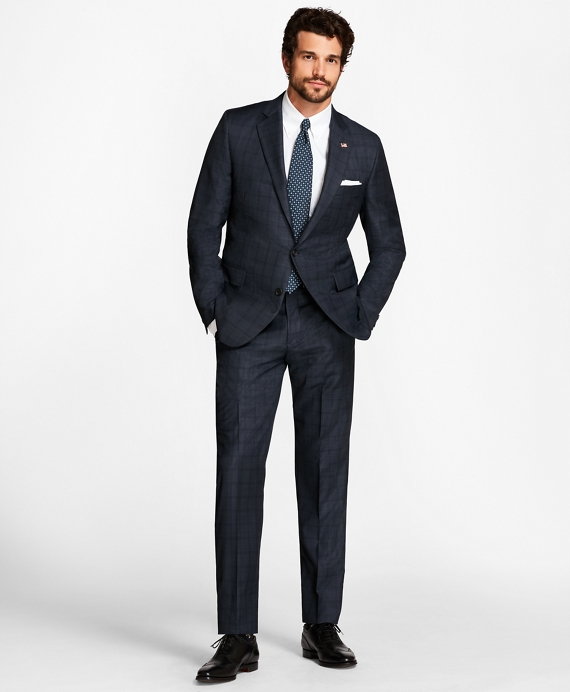 Golden Fleece® Regent Fit  Windowpane Suit Blue