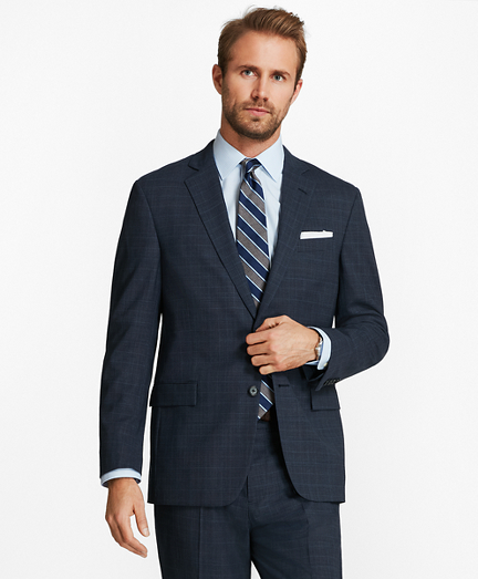 Regent Fit BrooksCool® Plaid Suit