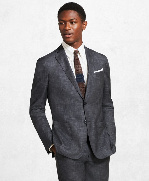 Golden Fleece® BrooksCloud™ Grey Plaid Suit Dark Grey