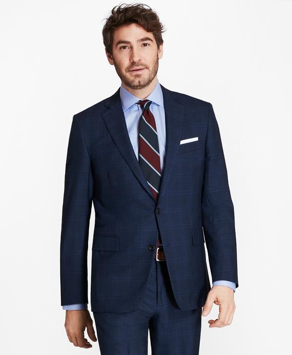 Golden Fleece® Regent Fit Plaid Suit Blue