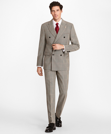 Regent Fit Double-Breasted Plaid 1818 Suit