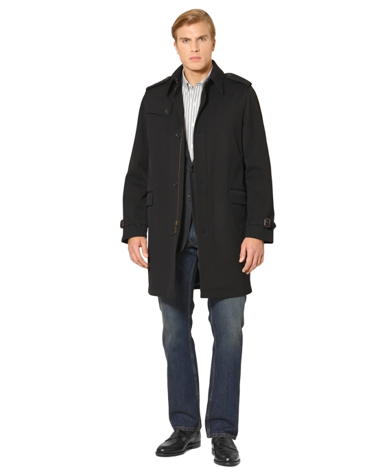Steep Twill Overcoat Black
